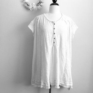 Free People Oversized White Tee
